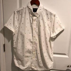 A&F Sailboat Print Button-Down Shirt